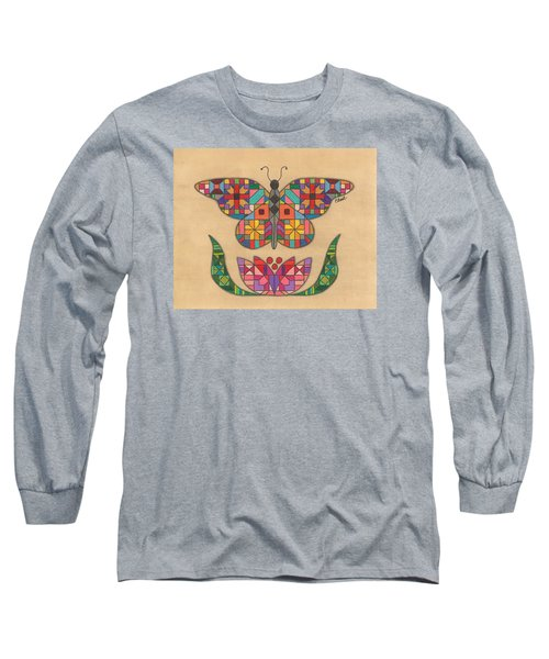 Quilted Butterfly Long Sleeve T-Shirt