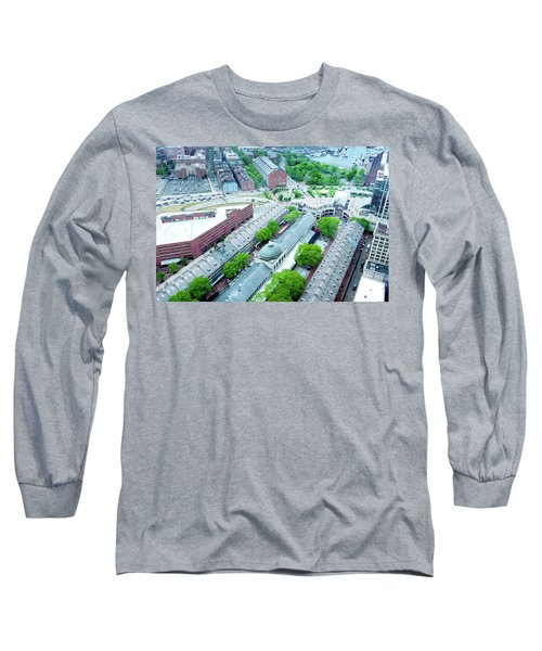 Long Sleeve T-Shirt featuring the photograph Quincy And Columbus by Greg Fortier