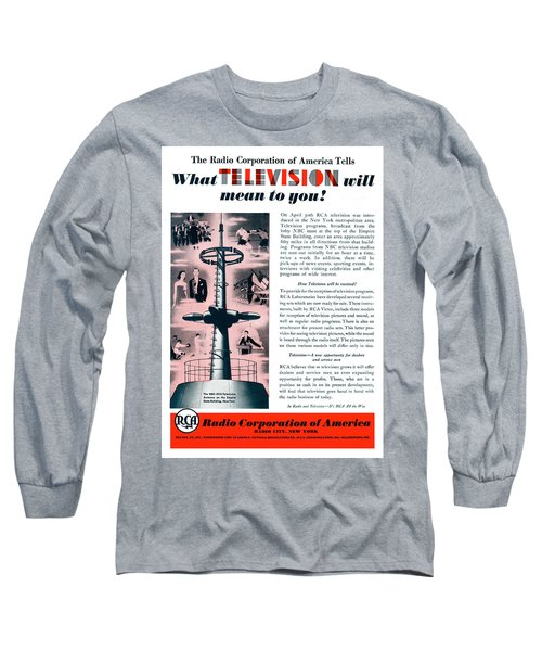 R C A - What Television Will Mean To You 1939 Long Sleeve T-Shirt
