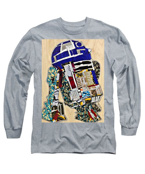 R2-d2 Star Wars Afrofuturist Collection Long Sleeve T-Shirt by Apanaki Temitayo M