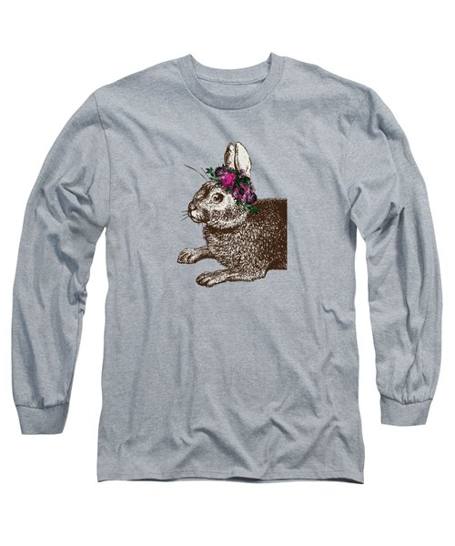 Rabbit And Roses Long Sleeve T-Shirt by Eclectic at HeART