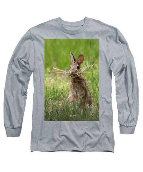 Rabbit Collector  Long Sleeve T-Shirt by Terry DeLuco