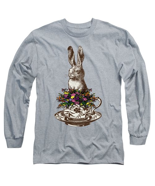 Rabbit In A Teacup Long Sleeve T-Shirt