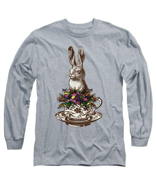 Rabbit In A Teacup Long Sleeve T-Shirt