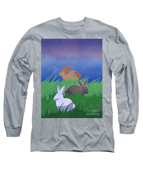 Rabbits Rabbits Rabbits Long Sleeve T-Shirt by Whitney Morton