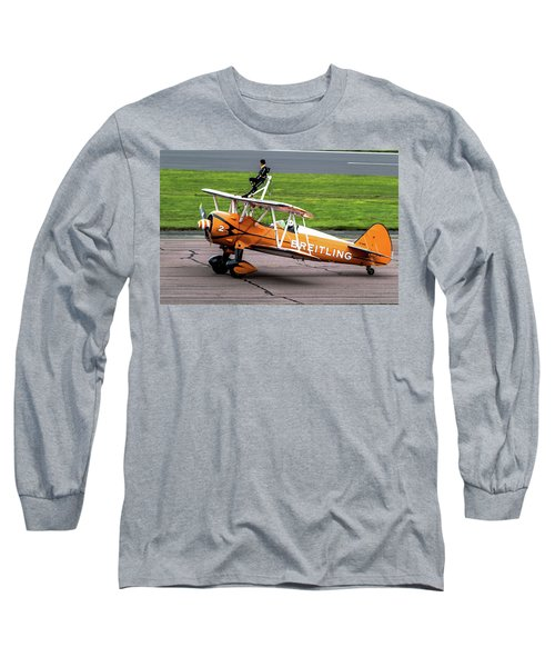 Raf Scampton 2017 - Breitling Wingwalkers At Rest Long Sleeve T-Shirt