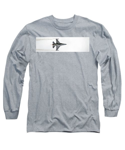 Raf Scampton 2017 - F-16 Fighting Falcon On White Long Sleeve T-Shirt
