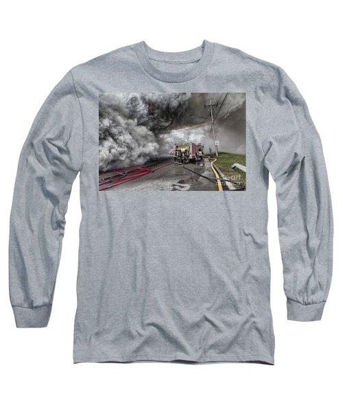 Raging Inferno Long Sleeve T-Shirt by Jim Lepard