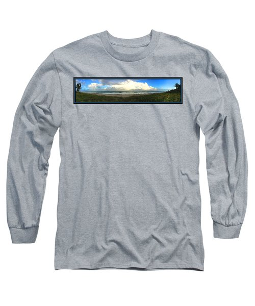 Long Sleeve T-Shirt featuring the photograph Rain And A Bow by Steven Lebron Langston