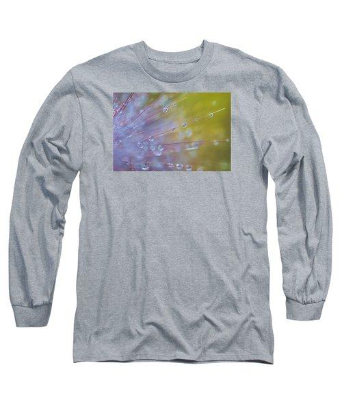 Rain Drops - 9753 Long Sleeve T-Shirt by G L Sarti