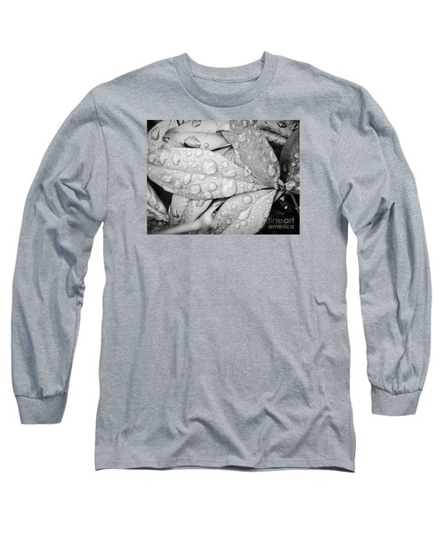 Long Sleeve T-Shirt featuring the photograph Rain Drops by Robin Coaker
