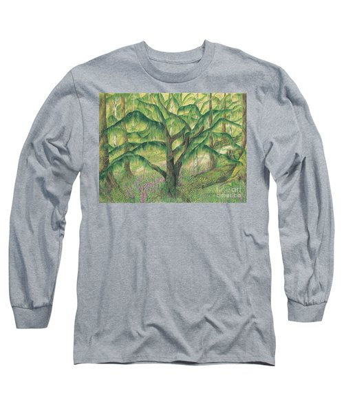Rain Forest Washington State Long Sleeve T-Shirt by Vicki  Housel