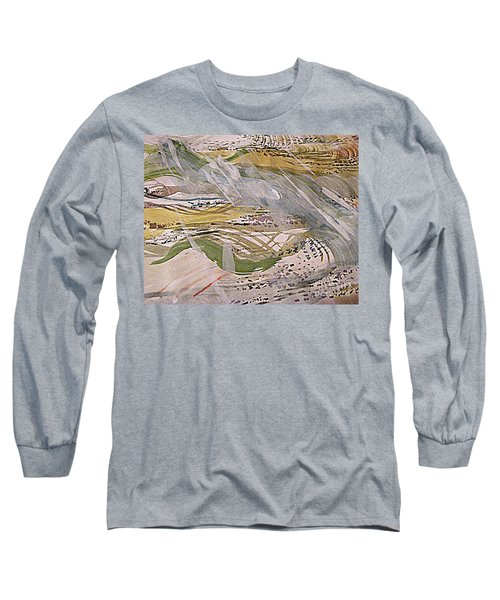 Rain In The  Valley Long Sleeve T-Shirt by Nancy Kane Chapman