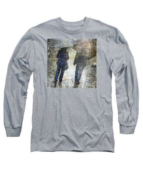 Rain Through The Fountain Long Sleeve T-Shirt by LemonArt Photography