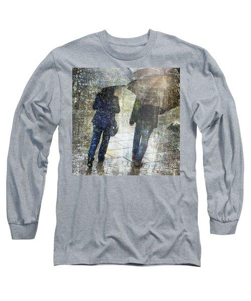 Rain Through The Fountain Long Sleeve T-Shirt