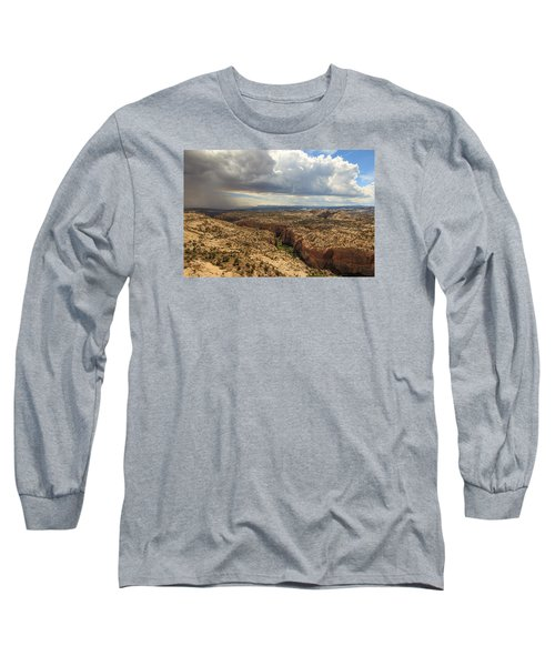 Rain And Sun Over Calf Creek. Long Sleeve T-Shirt by Johnny Adolphson