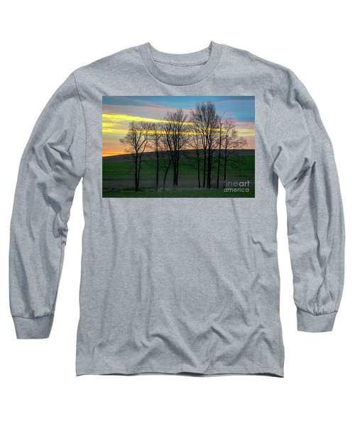 Rainbow Color Tree Horizon Long Sleeve T-Shirt
