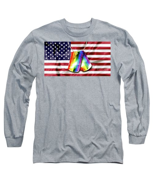 Rainbow Dog Tags Long Sleeve T-Shirt