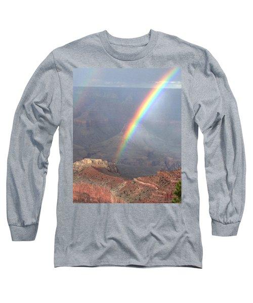 Rainbow Meets Mather Point Long Sleeve T-Shirt