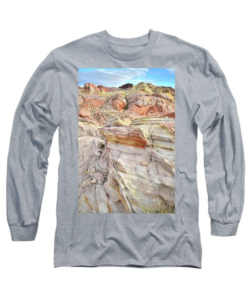Rainbow Of Color At Valley Of Fire Long Sleeve T-Shirt by Ray Mathis