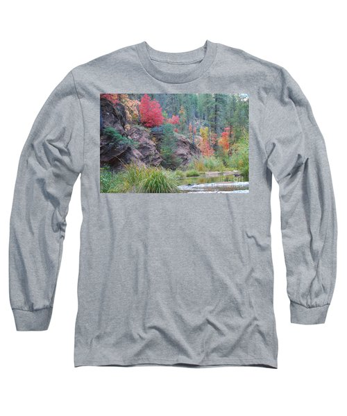 Rainbow Of The Season With River Long Sleeve T-Shirt