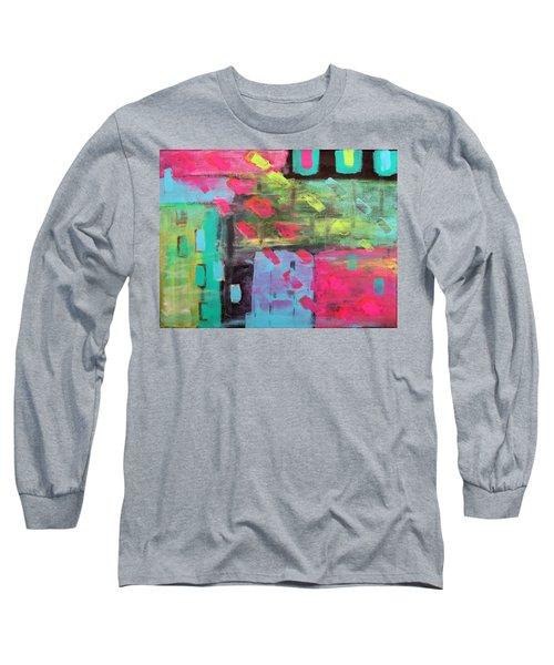 Rainbow Rain Long Sleeve T-Shirt by Tamara Savchenko