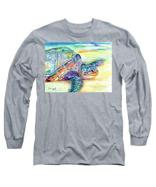 Rainbow Sea Turtle 2 Long Sleeve T-Shirt