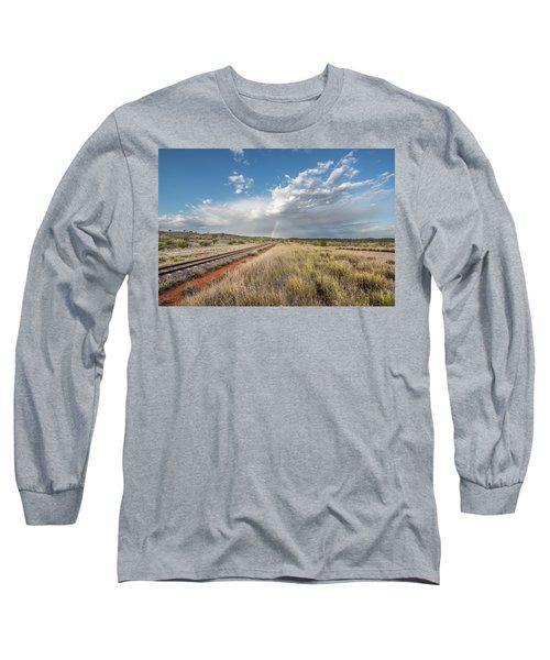 Rainbows Over Ghan Tracks Long Sleeve T-Shirt