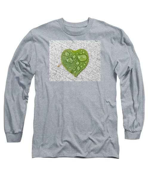 Raindrop Reflections Long Sleeve T-Shirt by Allan Levin