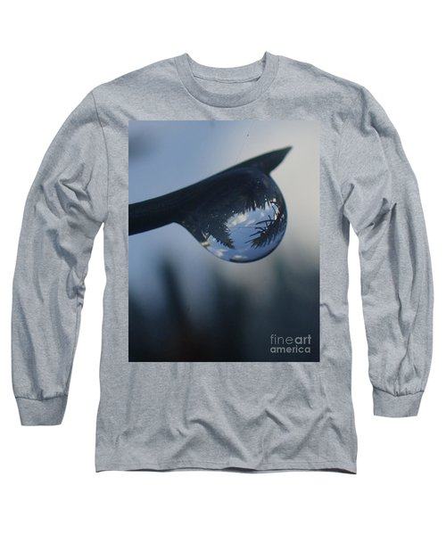 Raindrop World Long Sleeve T-Shirt by Christina Verdgeline