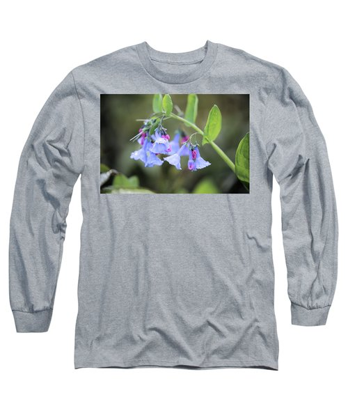 Raindrops On Blue Bells Long Sleeve T-Shirt