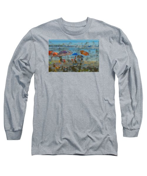 Raining Abstract Long Sleeve T-Shirt