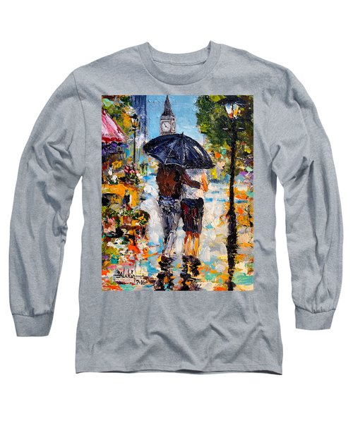 Rainy Day In Olde London Town Long Sleeve T-Shirt