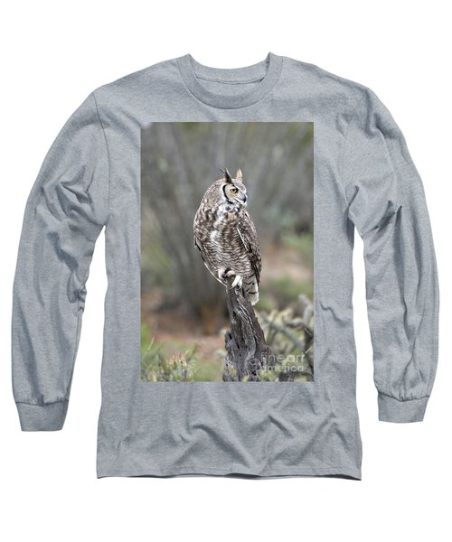 Rainy Day Owl Long Sleeve T-Shirt