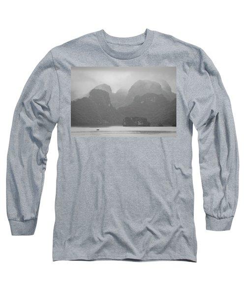 Long Sleeve T-Shirt featuring the photograph Rainy Ha Long Bay, Ha Long, 2014 by Hitendra SINKAR
