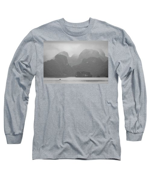 Long Sleeve T-Shirt featuring the photograph Rainy Ha Long Bay, Ha Long, 2014 by Hitendra SINKAR