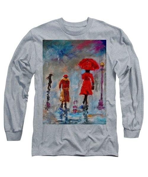 Rainy Spring Day Long Sleeve T-Shirt by Sher Nasser