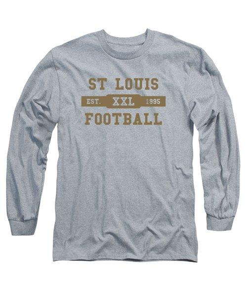 Rams Retro Shirt Long Sleeve T-Shirt by Joe Hamilton