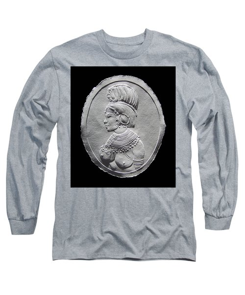 Randille Tribe Woman Relief Drawing Long Sleeve T-Shirt