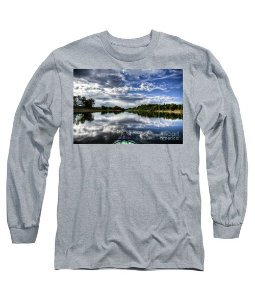 Long Sleeve T-Shirt featuring the photograph Rankin Bottoms Hdr by Douglas Stucky