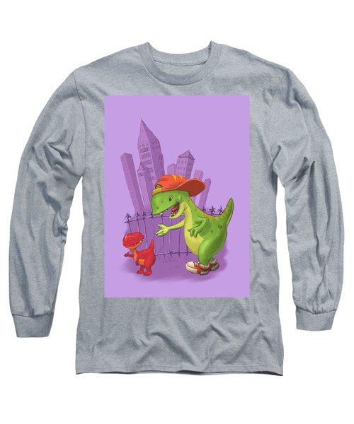 Rap-rap Raptor City Long Sleeve T-Shirt