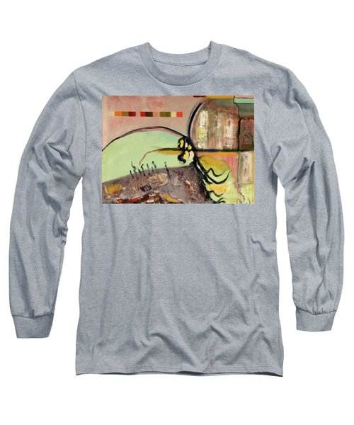 Long Sleeve T-Shirt featuring the painting Rational Thought Begins Here by Paul McKey