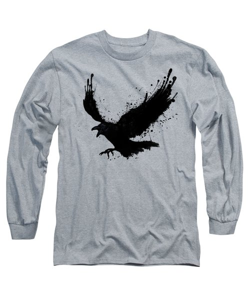 Raven Long Sleeve T-Shirt by Nicklas Gustafsson
