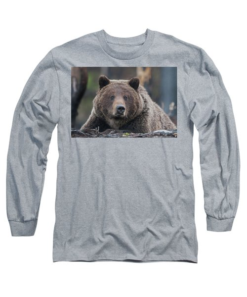 Raw, Rugged And Wild- Grizzly Long Sleeve T-Shirt