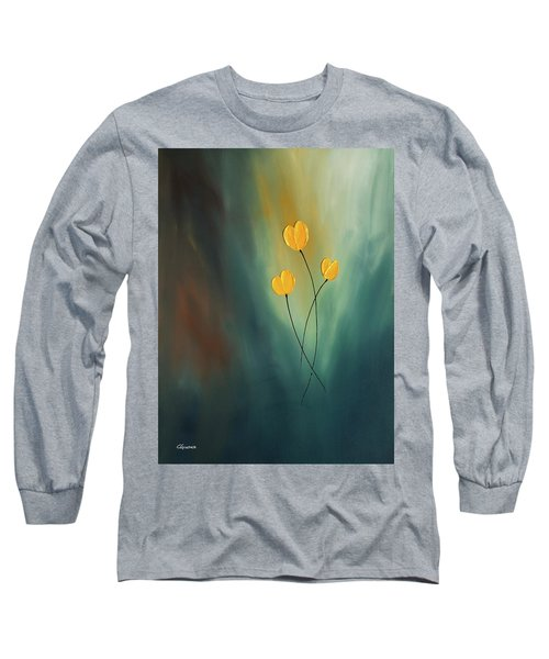 Long Sleeve T-Shirt featuring the painting Rays Of Hope by Carmen Guedez