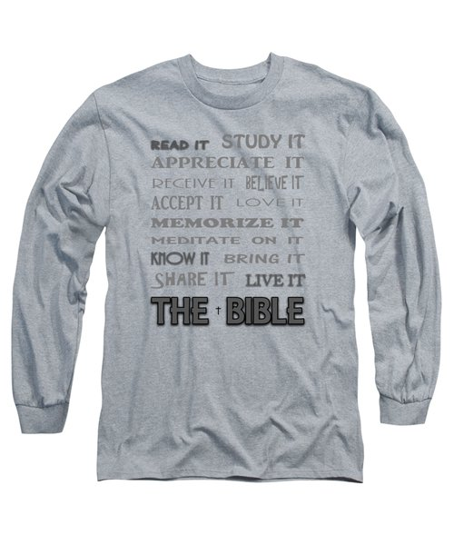 Read It Know It Live It The Bible 1 Long Sleeve T-Shirt