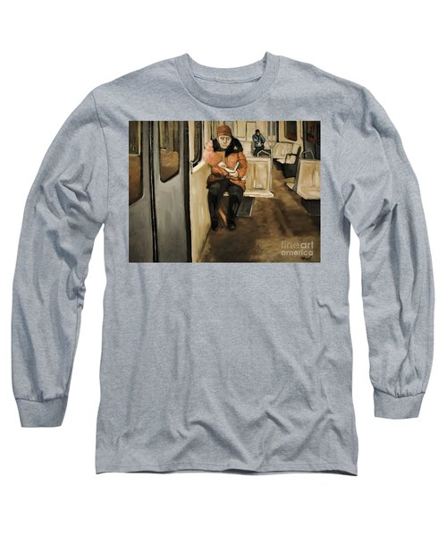 Reader On The Metro Long Sleeve T-Shirt