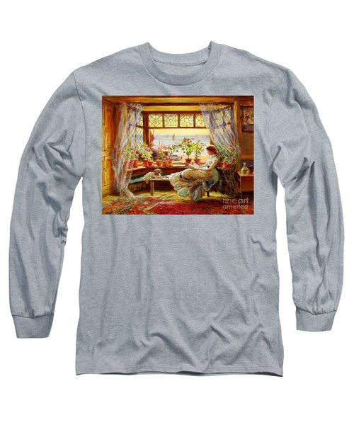 Reading By The Window Long Sleeve T-Shirt