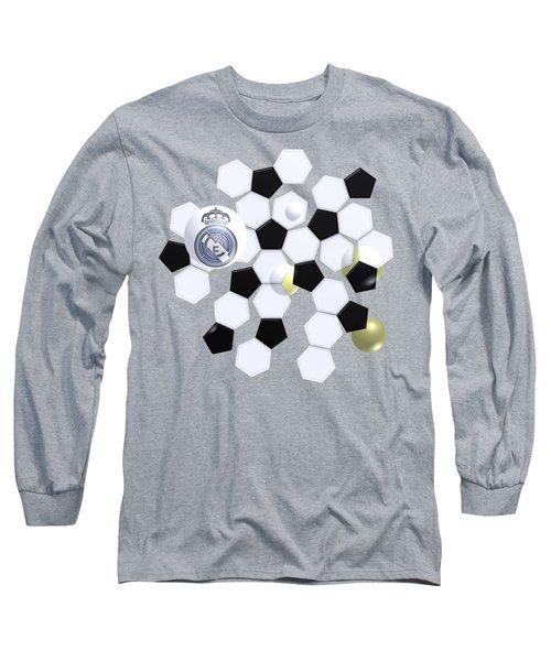 Real Madrid In Football Sky Long Sleeve T-Shirt
