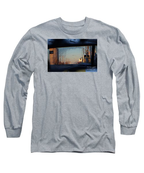 Long Sleeve T-Shirt featuring the digital art Rear View 2 - The Places I Have Been by David Blank